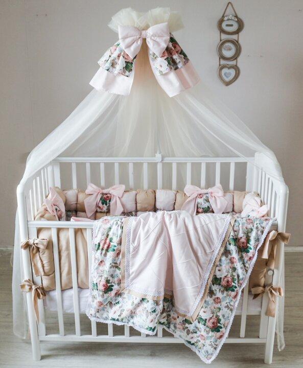 Комплект для малышей в кроватку Карамель